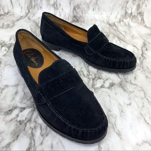 Cole Haan black suede penny loafers 7.5